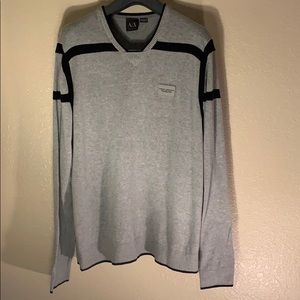 Armani Exchange lightweight fall weather sweater.
